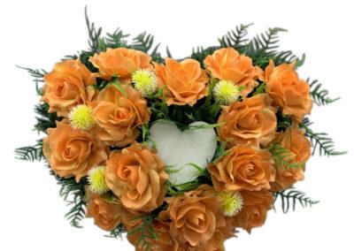 stroik serce pomaranczowe